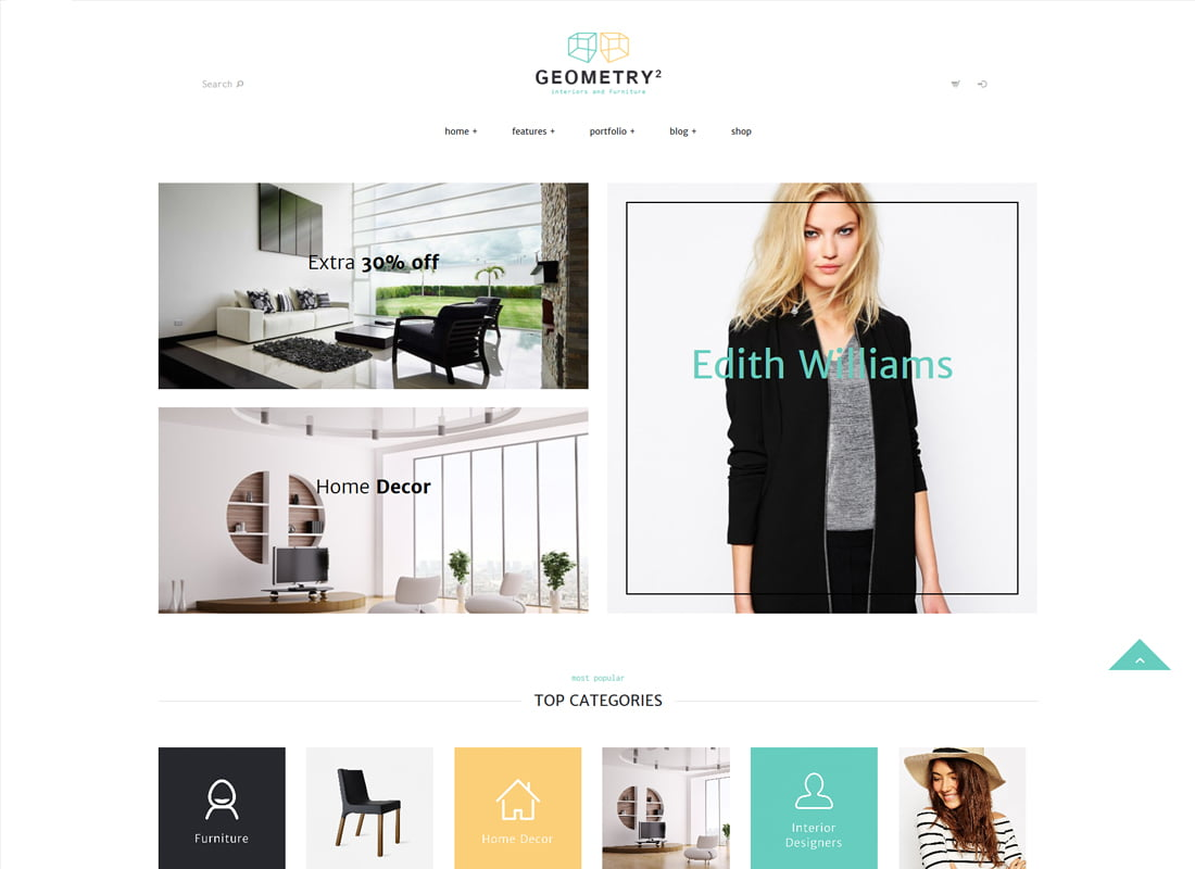 Geometry - 36+ Top Quality WordPress Themes For Interior Design [year]
