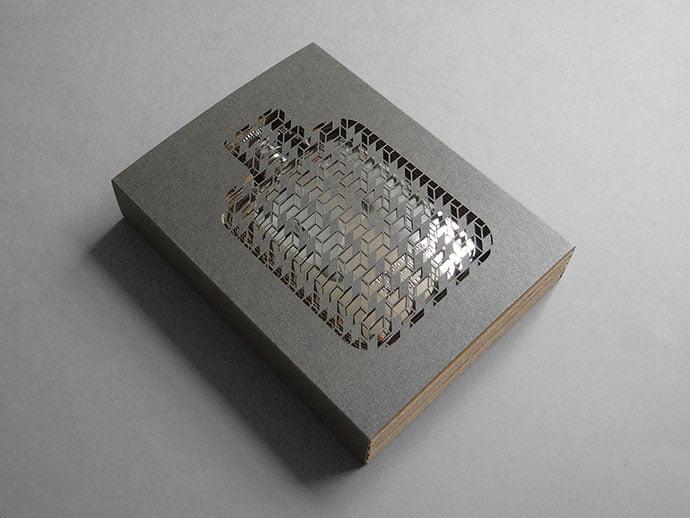 Gift-Flask-Packaging - 35+ Awesome Die Cut Packaging Designs Template [year]