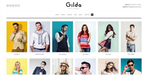 Gilda - 36+ Nice WordPress Model Agency Themes [year]