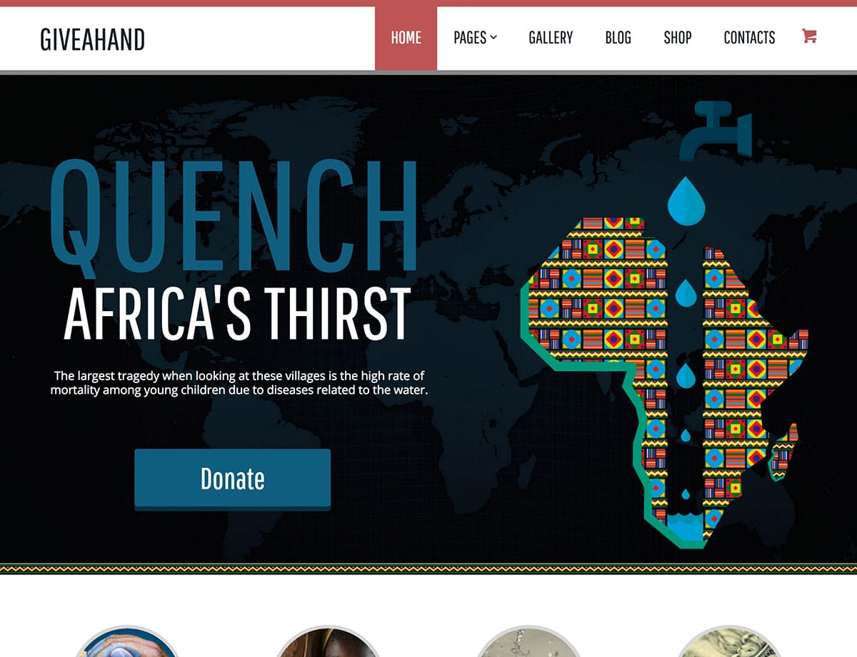 GiveAHand - 36+ Amazing WordPress Themes For Non-Profit, Charity [year]