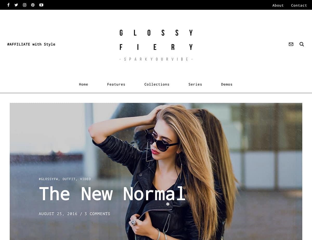 Glossy - 36+ Nice WordPress Themes For Fashion Blog [year]