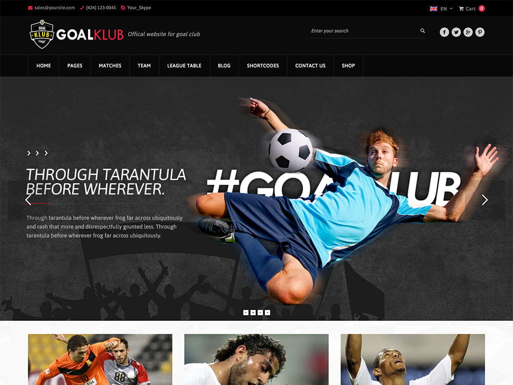 Goal-Club - 31+ Nice WordPress Themes For Sports [year]