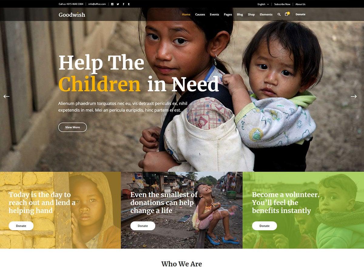 Goodwish - 36+ Amazing WordPress Themes For Non-Profit, Charity [year]