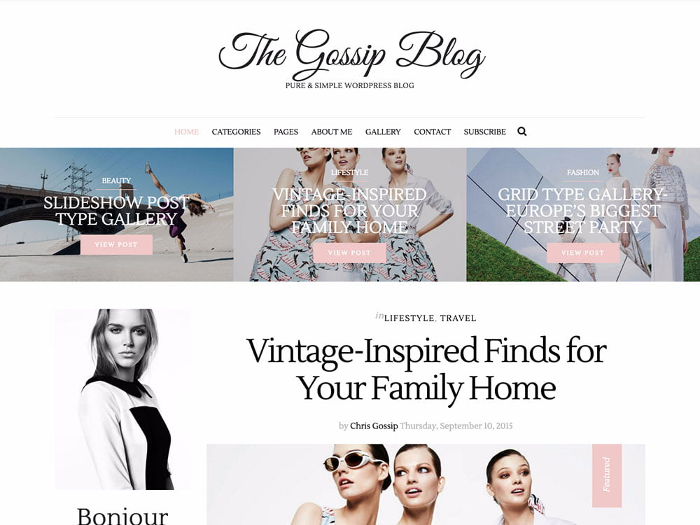 GossipBlog - 36+ Nice WordPress Themes For Fashion Blog [year]