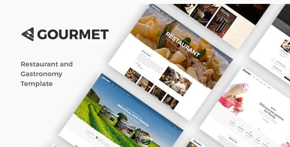 Gourmet - 36+ Best Quality Retro WordPress Themes [year]