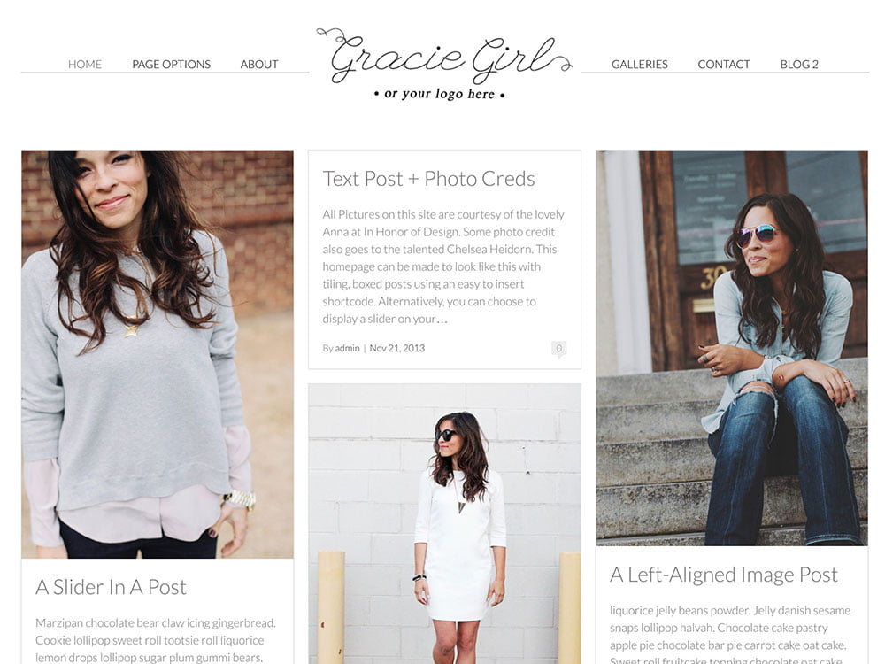 Gracie-Girl - 36+ Nice WordPress Themes For Fashion Blog [year]