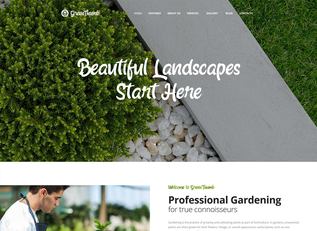 Green-Thumb - 36+ Top Quality WordPress Themes For Interior Design [year]