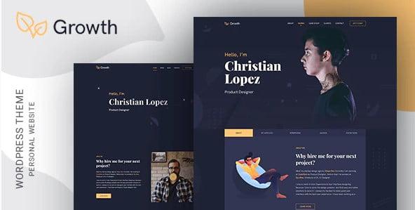 Growth - 46+ Nice Free WordPress Portfolio Themes [year]