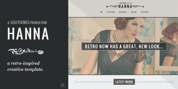 HANNA - 36+ Best Quality Retro WordPress Themes [year]