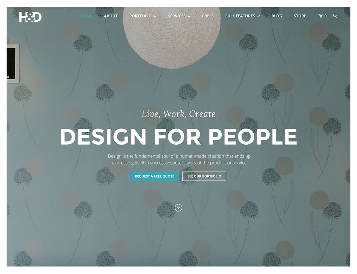 HD-1 - 30+ Top Quality WordPress Themes For Interior Design [year]