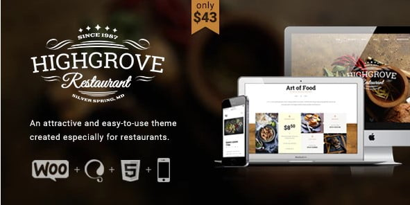 HG-Restaurant - 36+ Top Quality WordPress Themes For Coffee Shop [year]