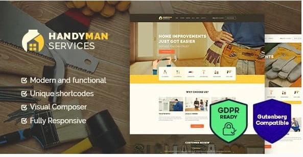 Handyman-1 - 36+ Awesome Plumbers WordPress Themes [year]