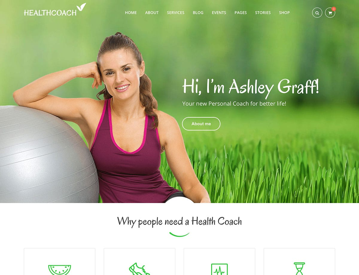 Health-Coach - 36+ Nice WordPress Themes For Coaching [year]