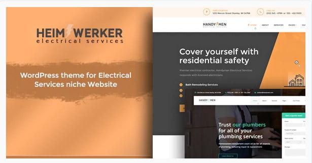 Heimwerker - 36+ Amazing Electricians WordPress Themes [year]