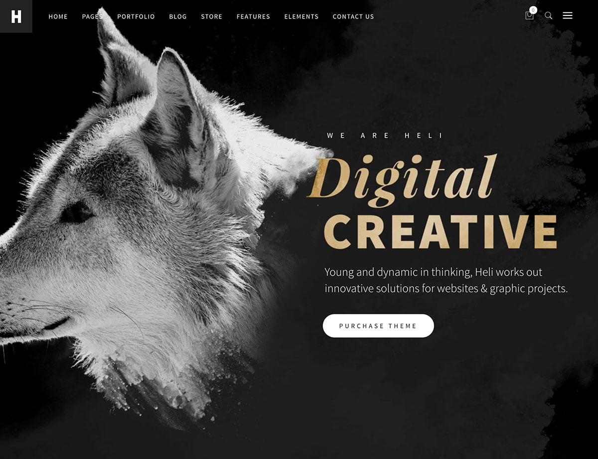 Heli - 40+ Awesome WordPress Themes For Creative Agency [year]
