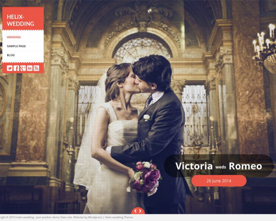 Helix-Matrimony - 36+ Elegant Free WordPress Wedding Themes [year]