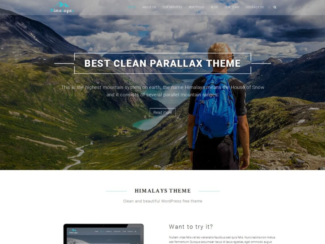 Himalayas - 46+ Best Free WordPress One Page Themes [year]