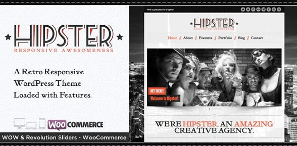 Hipster - 36+ Best Quality Retro WordPress Themes [year]