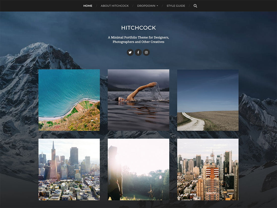 Hitchcock - 51+ Nice Free WordPress Themes For Photography [year]