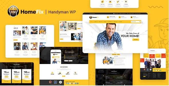HomeFix - 36+ Awesome Plumbers WordPress Themes [year]