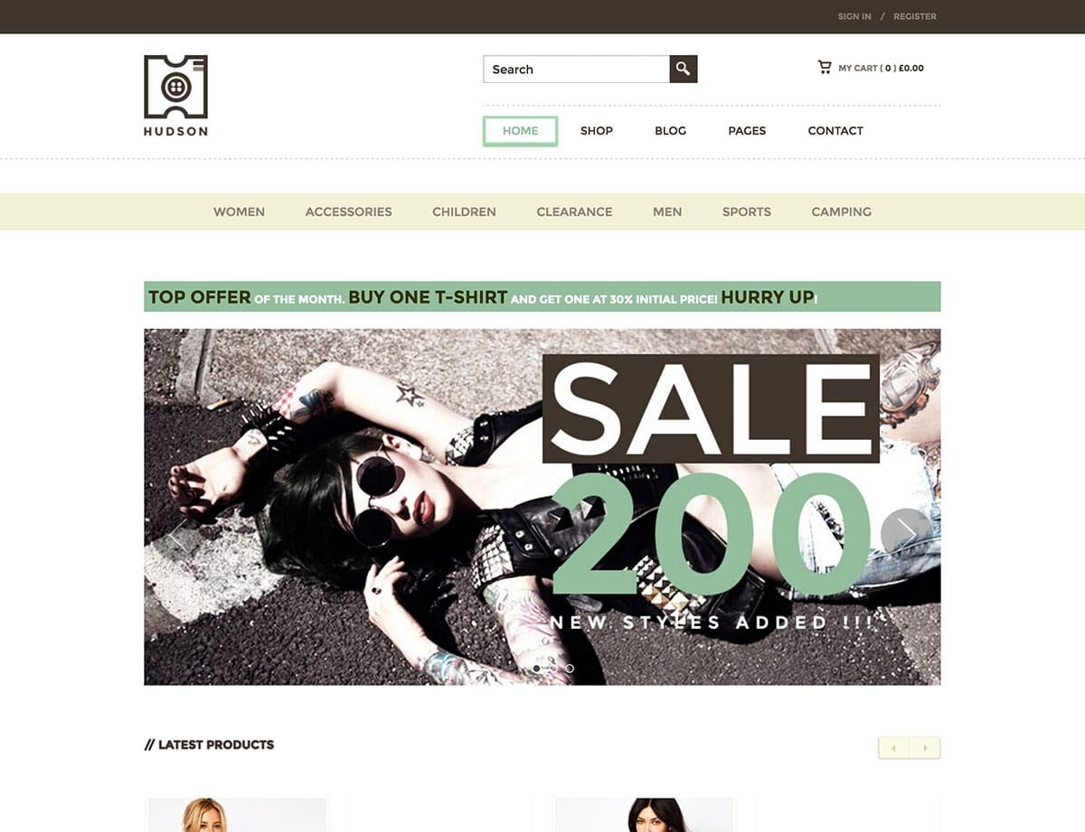 Hudson - 36+ Top WordPress Themes For Ecommerce [year]