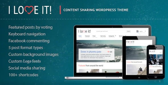 I-Love-It - 36+ Awesome WordPress Content Sharing Themes [year]