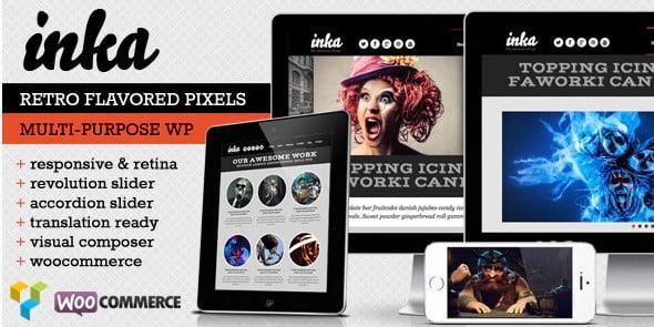 INKA - 36+ Best Quality Retro WordPress Themes [year]