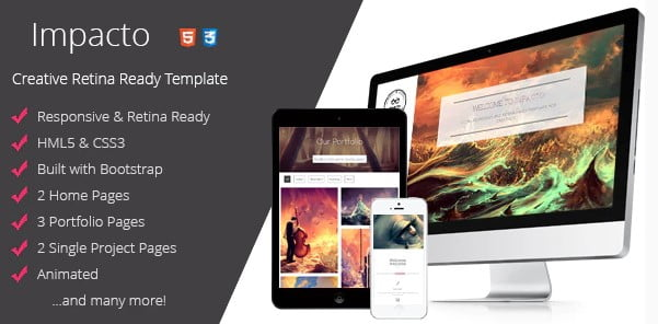 Impacto - 36+ Awesome Minimalist WordPress Themes [year]