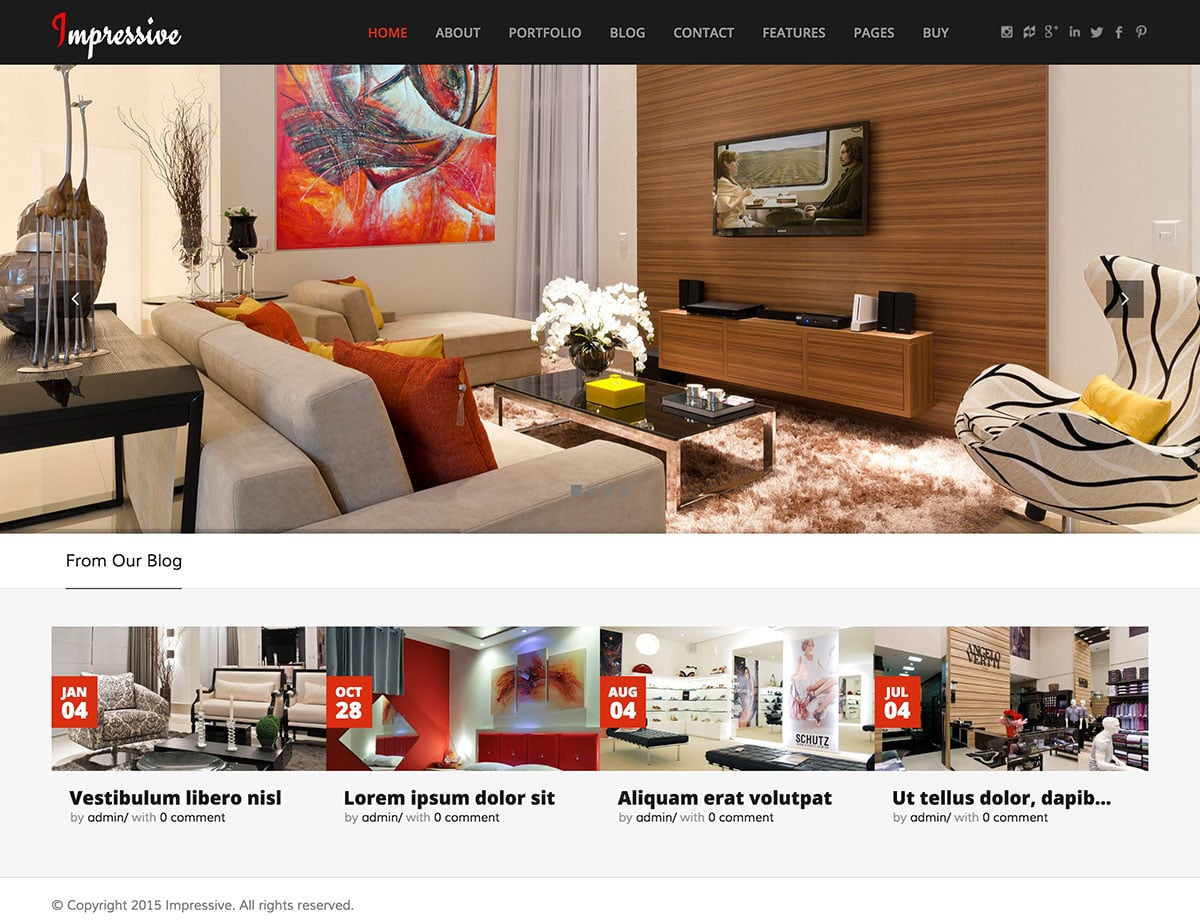 Impressive - 30+ Top Quality WordPress Themes For Interior Design [year]