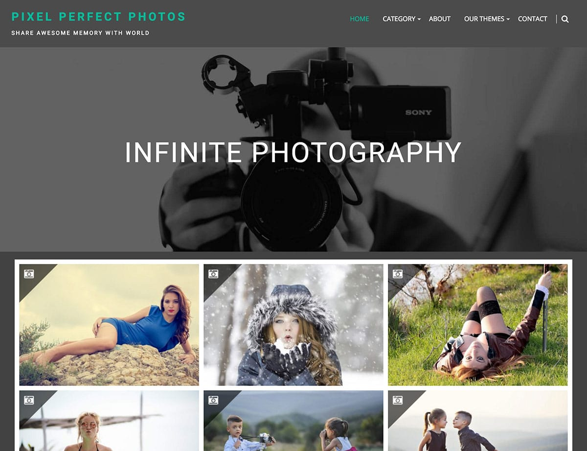 Infinite-Photography - 51+ Nice Free WordPress Themes For Photography [year]
