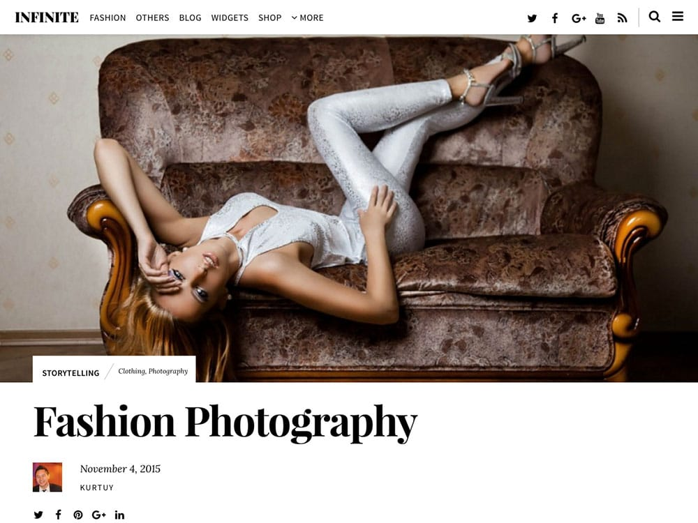 Infinite - 36+ Nice WordPress Themes For Fashion Blog [year]