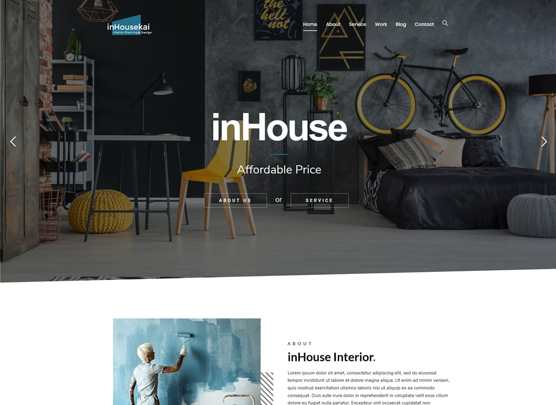 Inhousekai - 36+ Top Quality WordPress Themes For Interior Design [year]