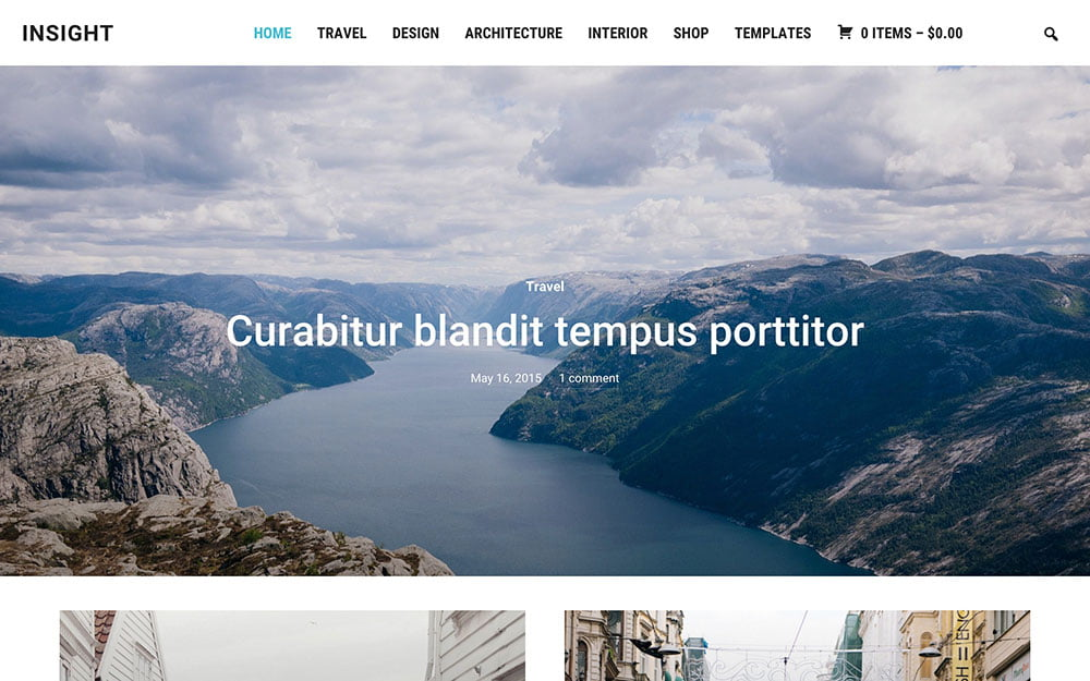 Insight - 36+ Top Quality WordPress Themes For Photography [year]