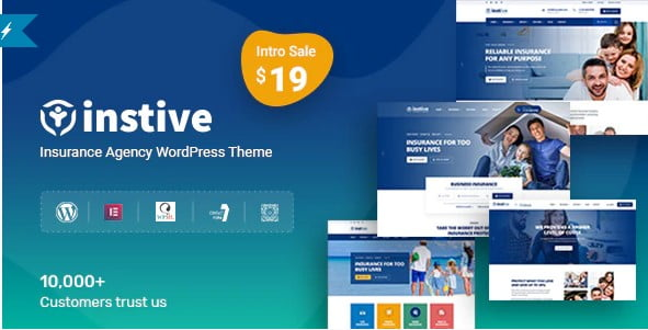 Instive - 36+ Amazing WordPress Insurance Themes [year]