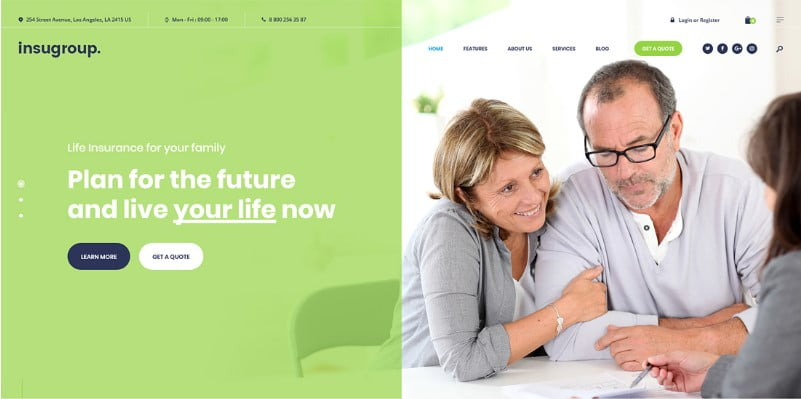 Insugroup - 36+ Amazing WordPress Insurance Themes [year]