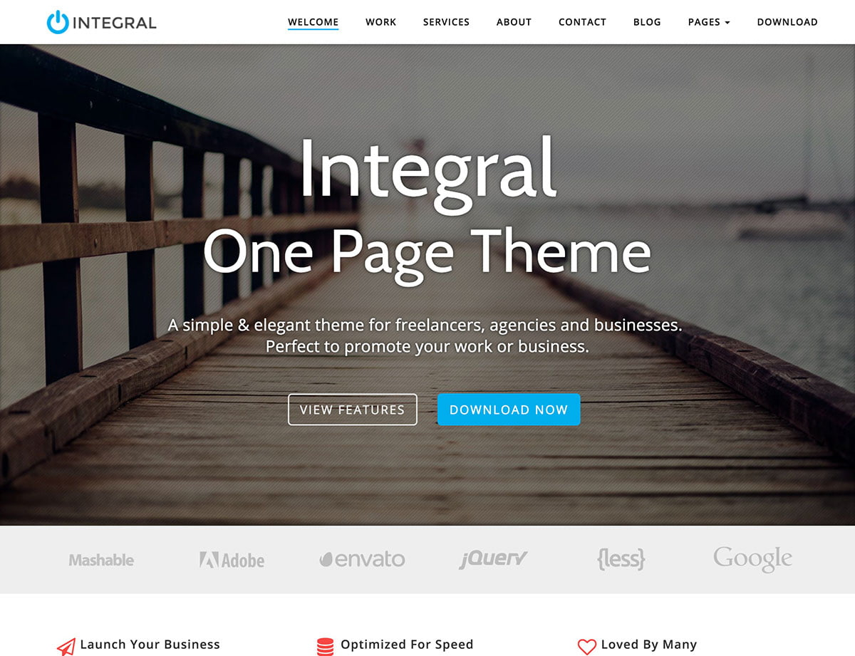 Integral-2 - 46+ Best Free WordPress One Page Themes [year]