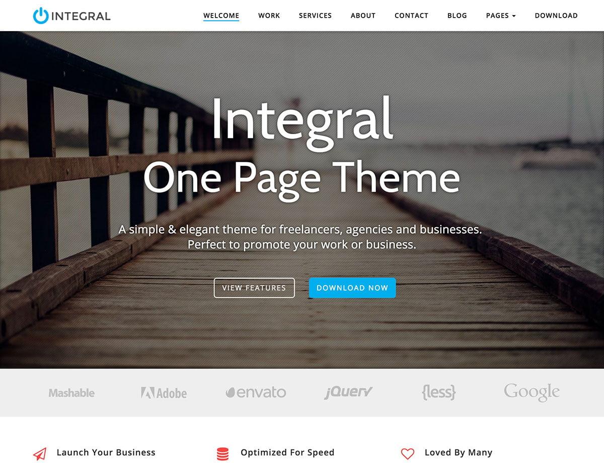 Integral - 46+ Nice Free WordPress Portfolio Themes [year]
