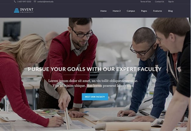 Invent - 36+ Awesome WordPress Themes e-Learning [year]
