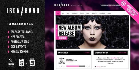 IronBand-1 - 35+ Nice WordPress Themes For Nightclub [year]