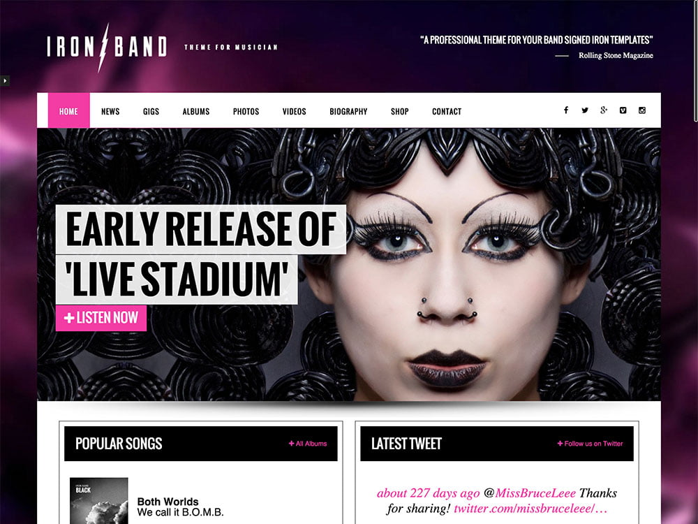 IronBand-2 - 40+ Awesome WordPress Themes For Music [year]