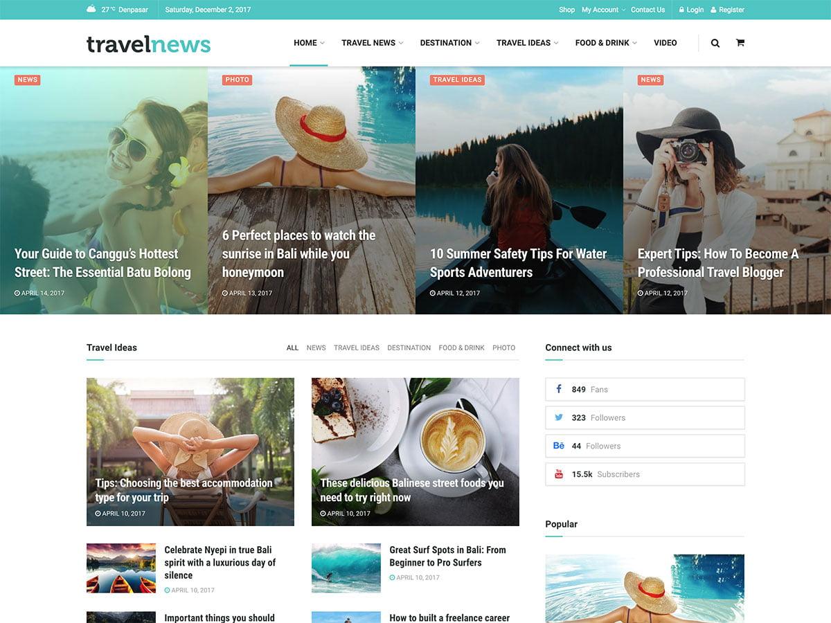JNews - 30+ Awesome Travel Blog WordPress Themes [year]