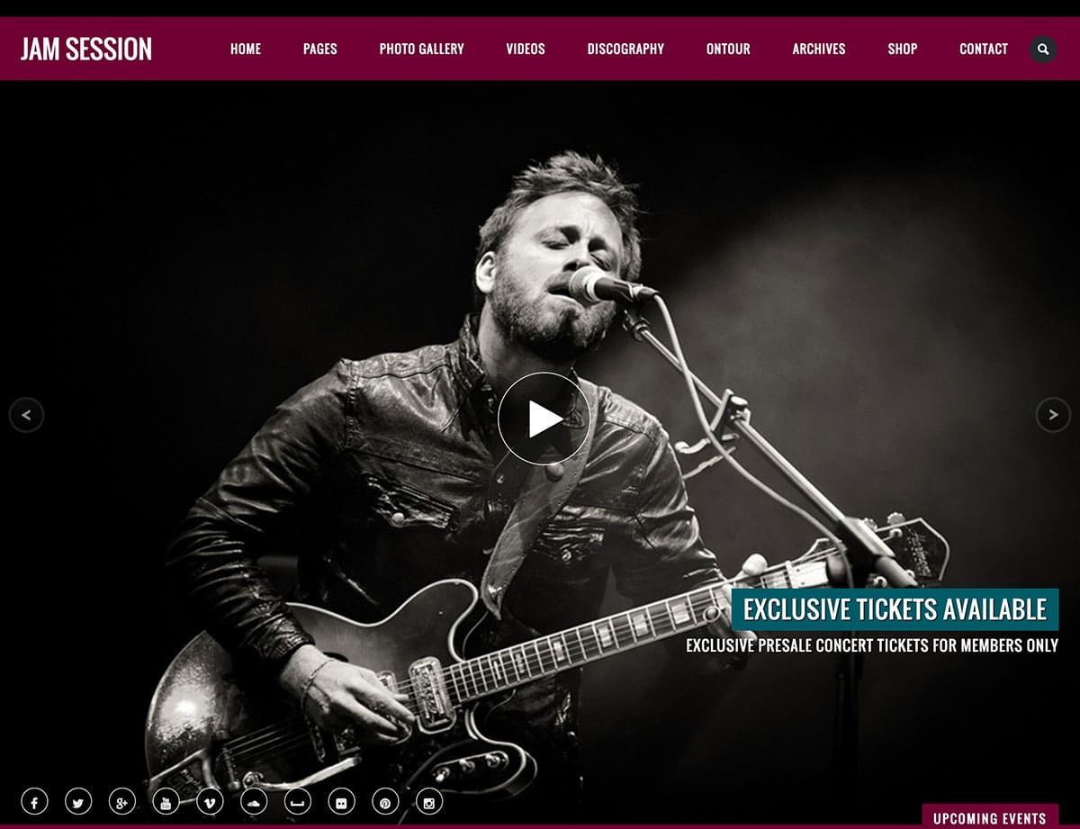 JamSession - 40+ Awesome WordPress Themes For Music [year]