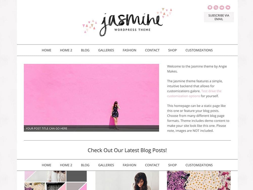 Jasmine - 36+ Nice WordPress Themes For Fashion Blog [year]