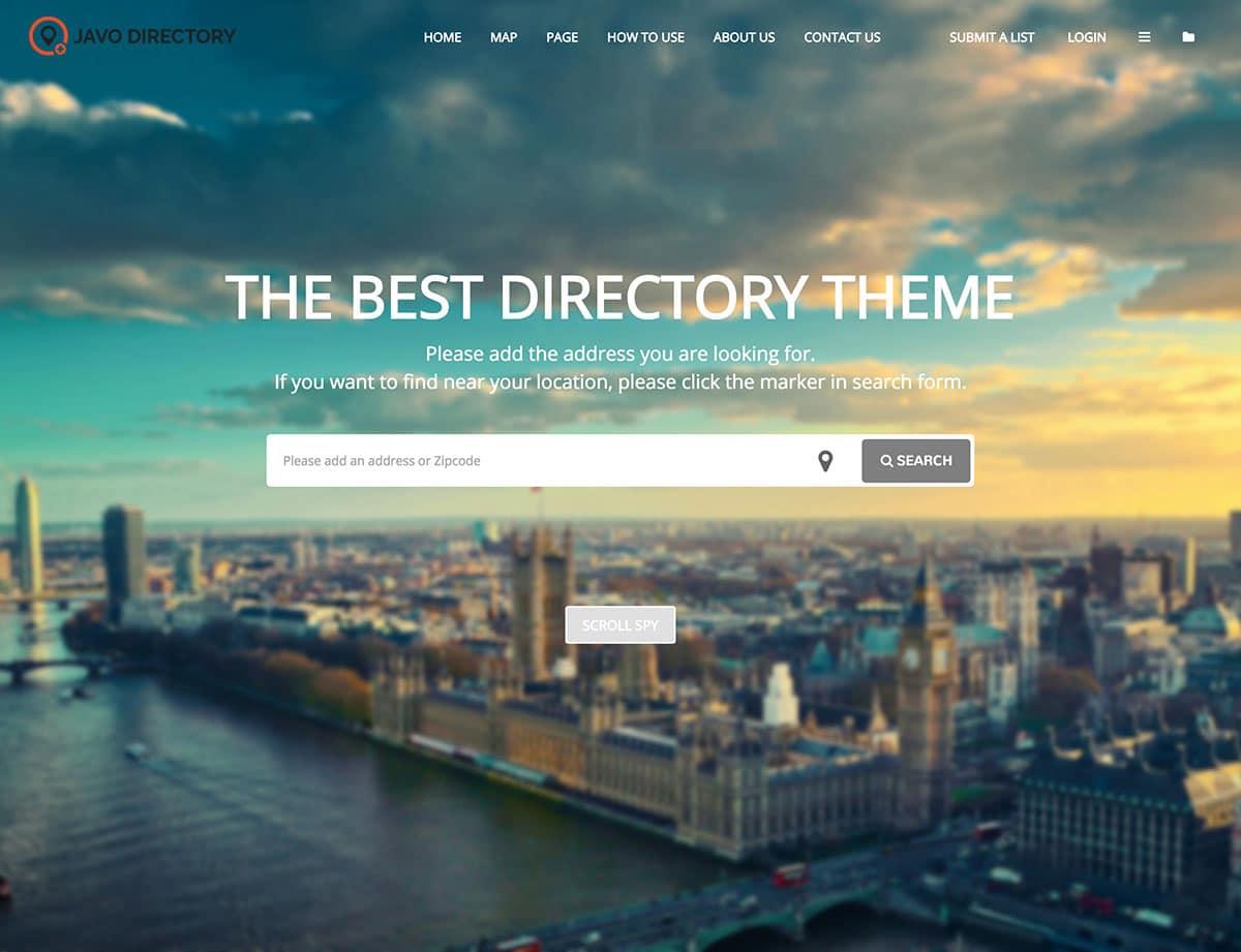 Javo - 46+ Stunning WordPress Directory Themes [year]