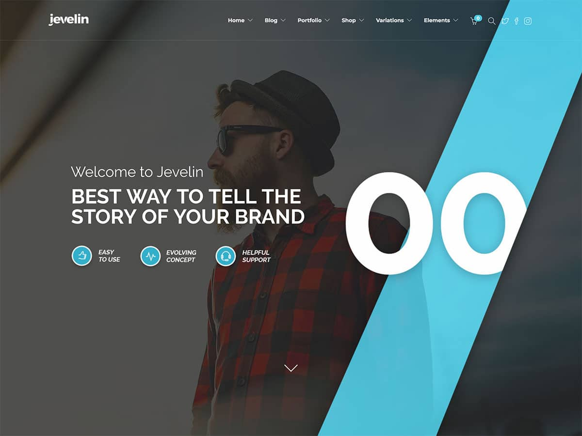 Jevelin - 31+ Amazing WordPress Themes For Creative [year]