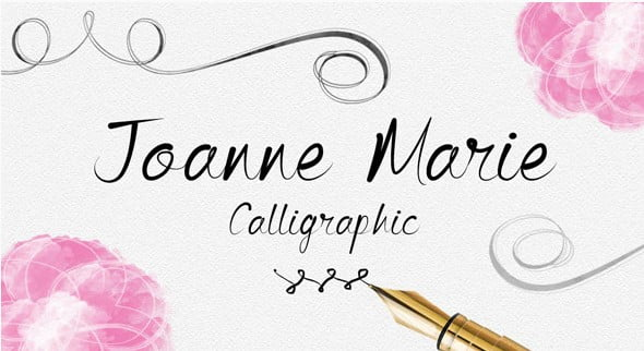 Joanne-Marie-Calligraphic-Font - 51+ Free Fonts For Calligraphy & Hand Lettering [year]