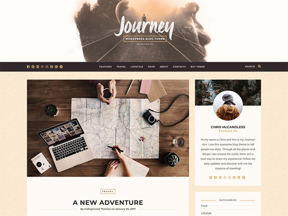 Journey - 30+ Awesome Travel Blog WordPress Themes [year]