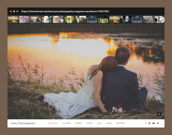 Juno - 31+ Awesome Wedding Photography Service WordPress Themes [year]