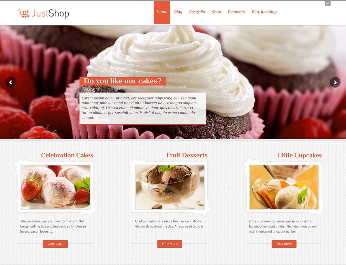 JustShop-1 - 30+ Amazing Bakeries WordPress Themes [year]