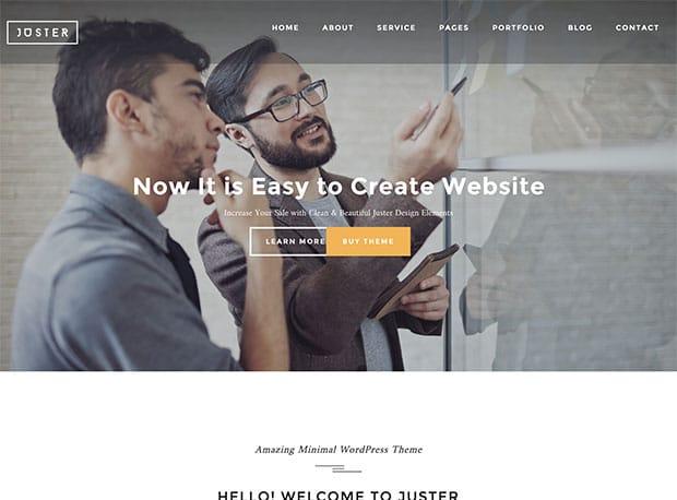 Juster - 36+ Awesome WordPress Marketing Themes [year]